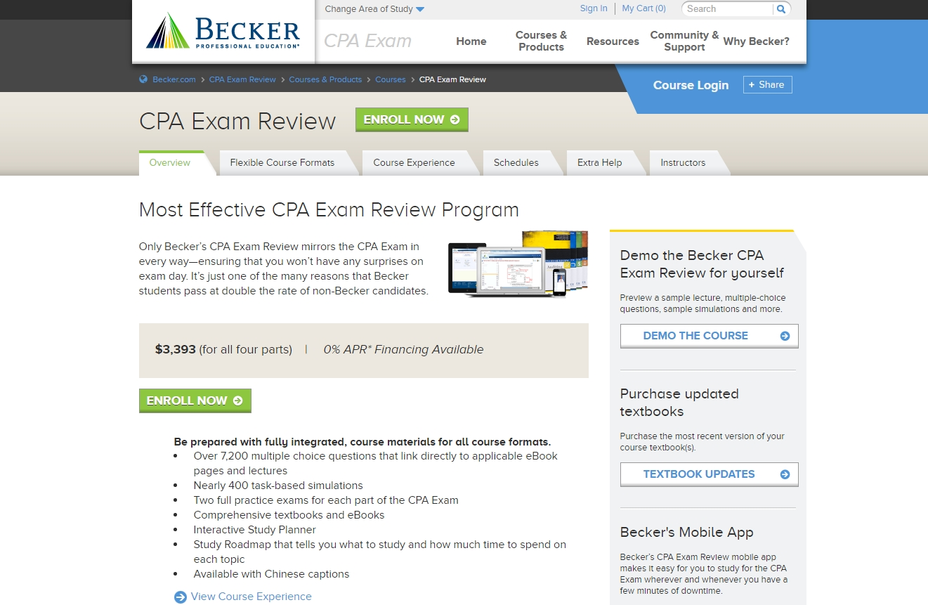 Becker CPA Review analysis and overview of the pros and cons, online course features, pricing options, and exclusive PROMO CODES and DISCOUNTS!
