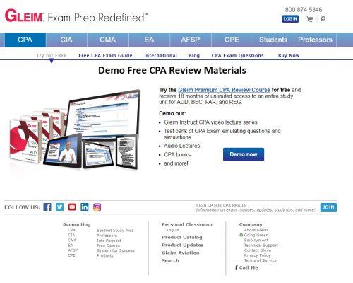 gleim-cpa-free-demo-screen