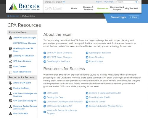 becker-cpa-about-the-exam-screen