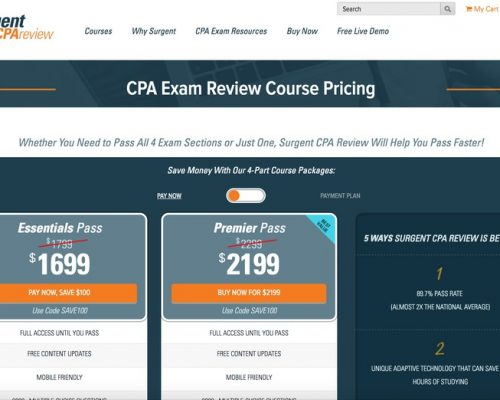 Surgent CPA Course Pricing